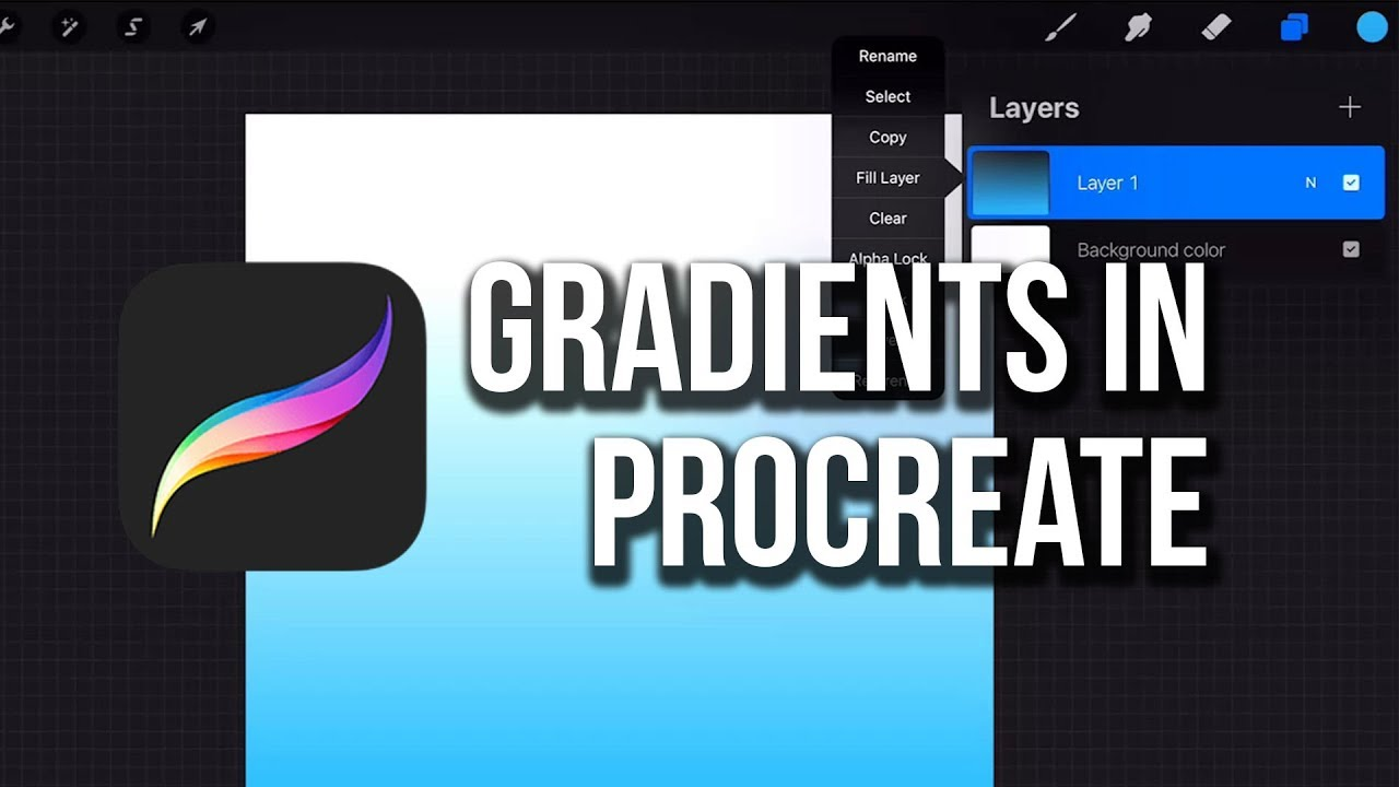3 Ways To Make Gradients In Procreate Youtube Procreate Procreate Tutorial Ipad Lettering