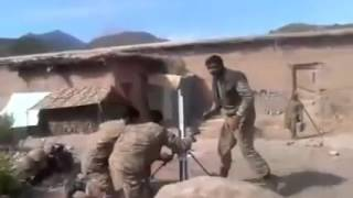 Real video of Pakistan army Mortar fire against Indian terrorists during operation Zarb E AZB