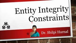 Lecture 6   Entity Integrity Constraints   Not Null constraint  Unique, Default and Check constraint