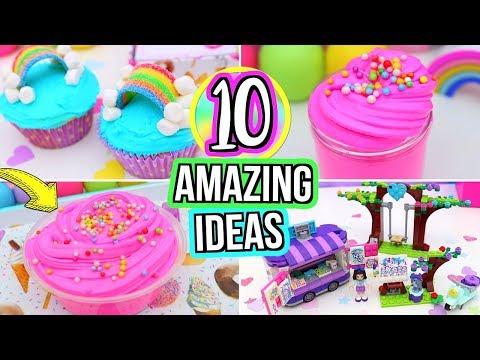 10 FUN Things To Do When You're BORED! DIY Slime, DIY Rainbow Cupcakes & DIY ROOM DECOR!