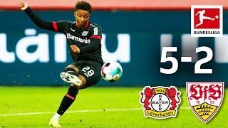 Gray with Debut Goal in 7-Goal Spectacle  Bayer 04 Leverkusen - VfB Stuttgart  5-2  Highlights