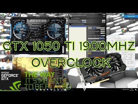 Overclocking A GTX 1050 Ti To 1911Mhz Boost