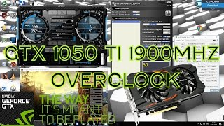 Overclocking A GTX 1050 Ti To 1911Mhz Boost