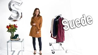 How to Wear a Suede Trench Coat and Mini Skirt
