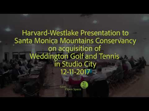 Harvard Westlake Presentation - Studio City Golf & Tennis 12-11-17