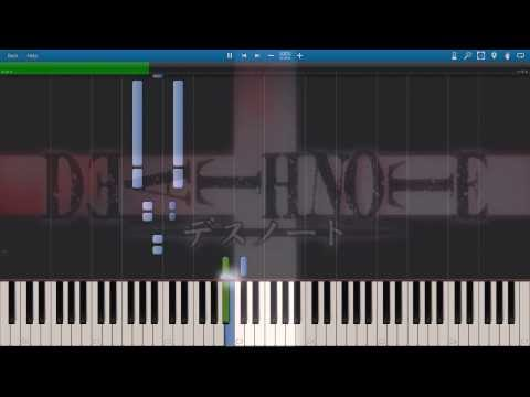 "Death Note - Opening ""The World"" - Synthesia Piano HD"