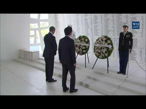 Thumbnail: President Obama Participates in a Wreath Laying Ceremony at Pearl Harbor
