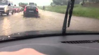 Hochwasser durch Regen bei Cham
