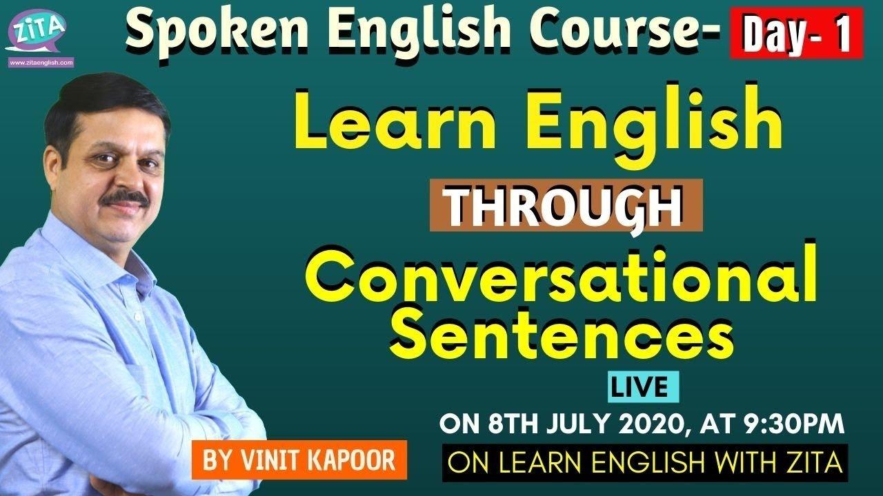 Free English Speaking Course- Day 1  Learn Spoken English Through Daily Use Sentences  Vinit Kapoor