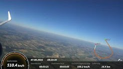 Flug Basel nach London mit Harter Landung - speed