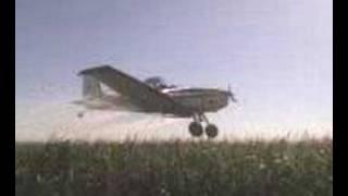 Fumigando en avion