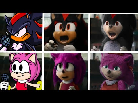 Sonic The Hedgehog Movie 2 Among Us Uh Meow All Designs Compilation (Shadow & Amy) 2