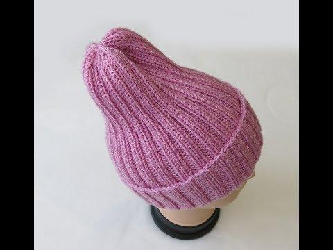 Как вязать шапку тыковку спицами