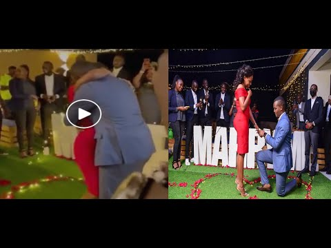Journalist Canary Mugume proposes to his long time girlfriend Sasha Ferguson.