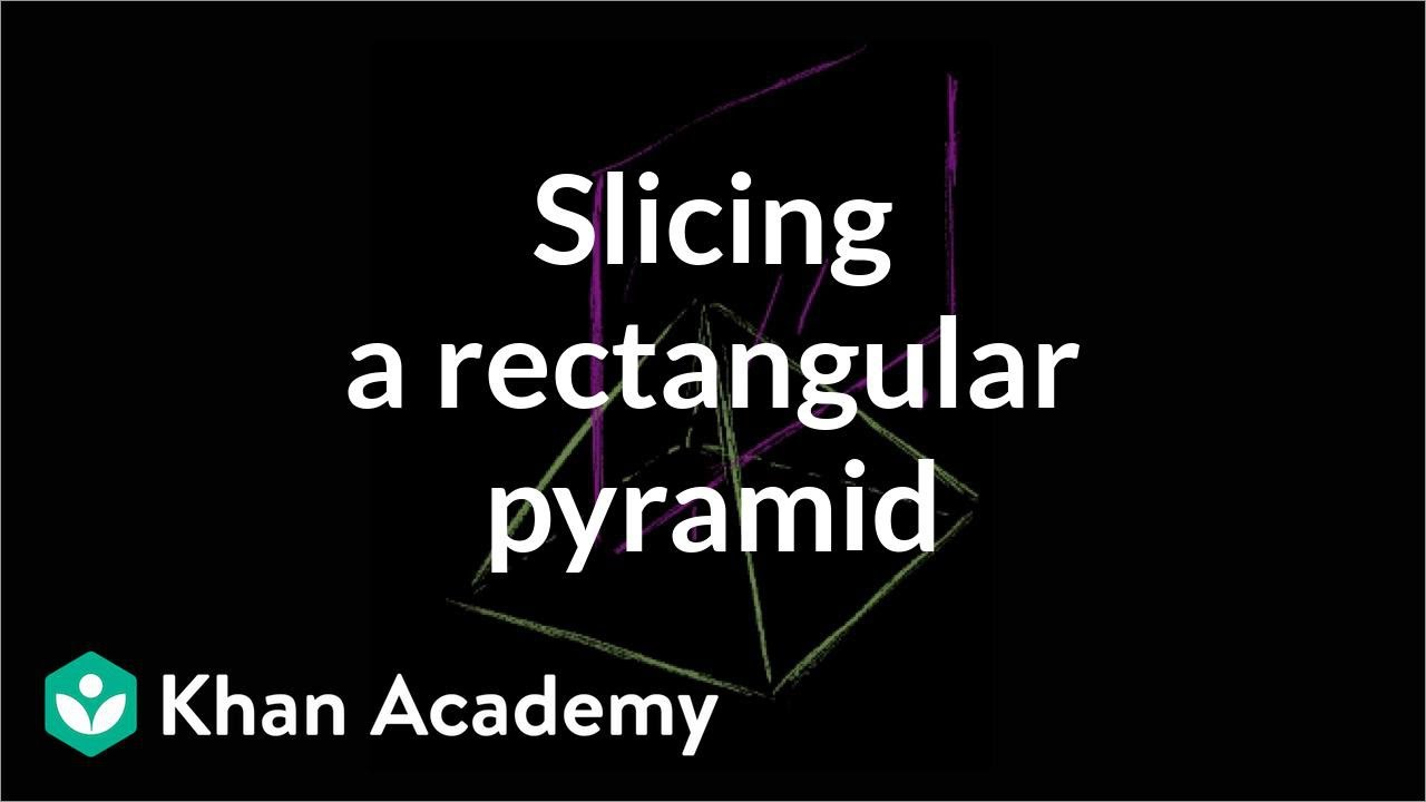 Slice A Rectangular Pyramid  Perimeter, Area, And Volume  Geometry  Khan  Academy