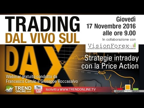 Trading dal vivo Dax e Forex in intraday
