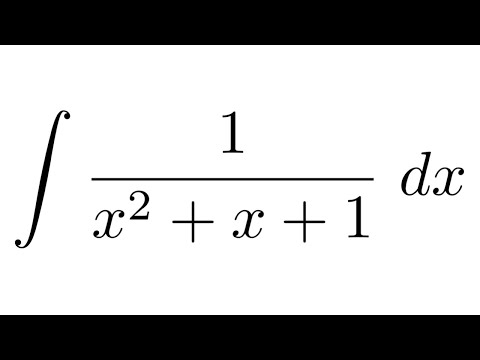 Integral of 1/(x^2+x+1) (IMPOSSIBLE by partial fraction
