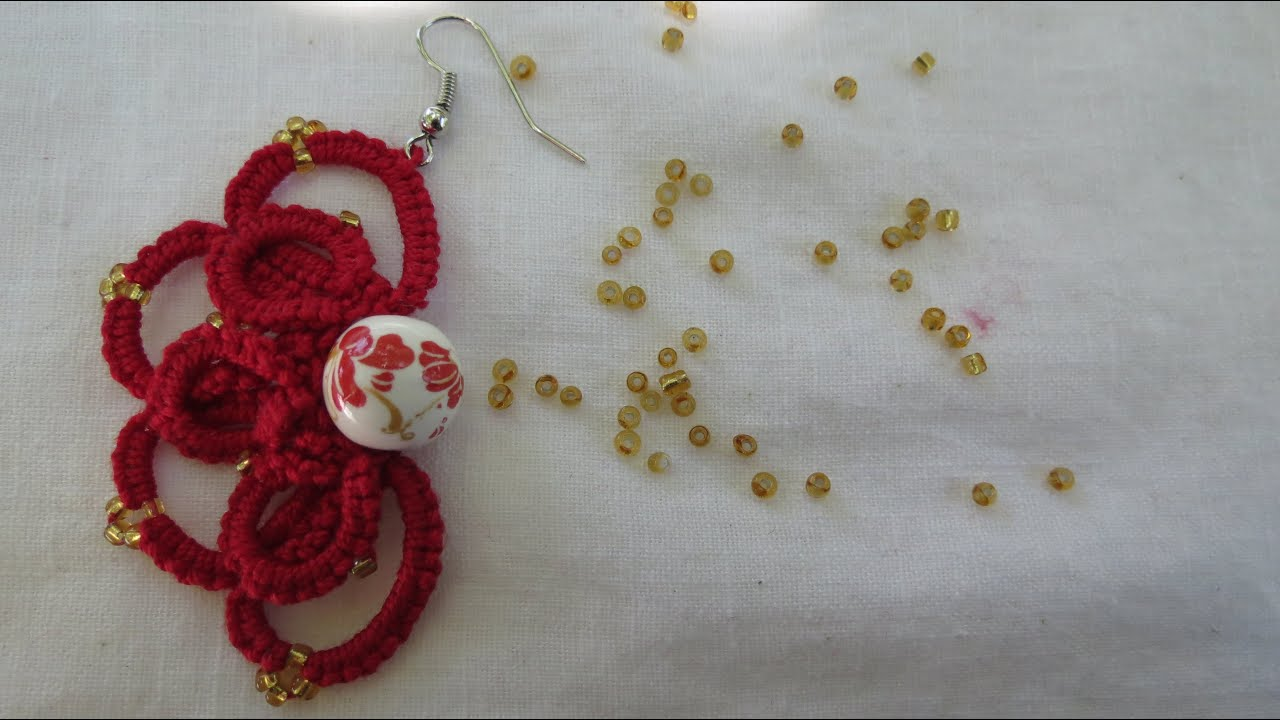 Needle Tatting Ankars Earrings