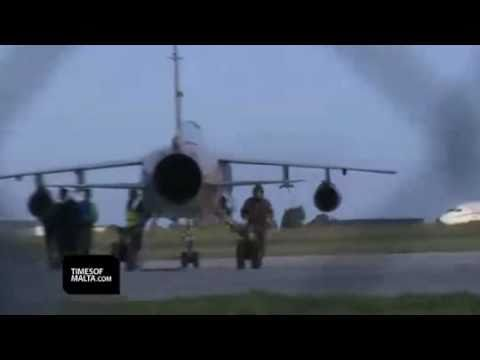 Libya in REVOLT (2011) - Libyan Fighter Jets Arrive in Malta