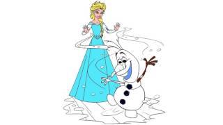 Frozen Izgi Film Karakter Boyama Sayfası 5 Minik Eller Boyama Kitabı