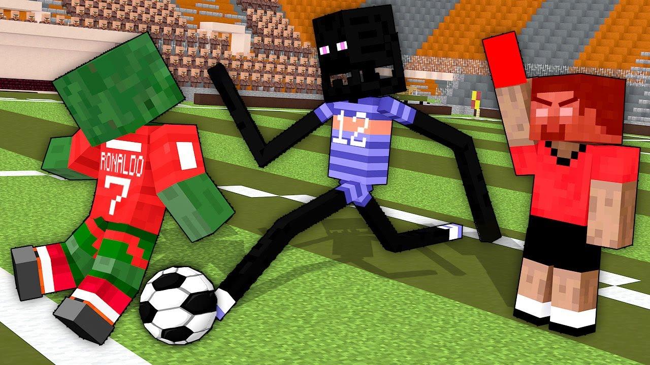 Monster School: EURO 2020 FootBall Challenge - Minecraft Animation