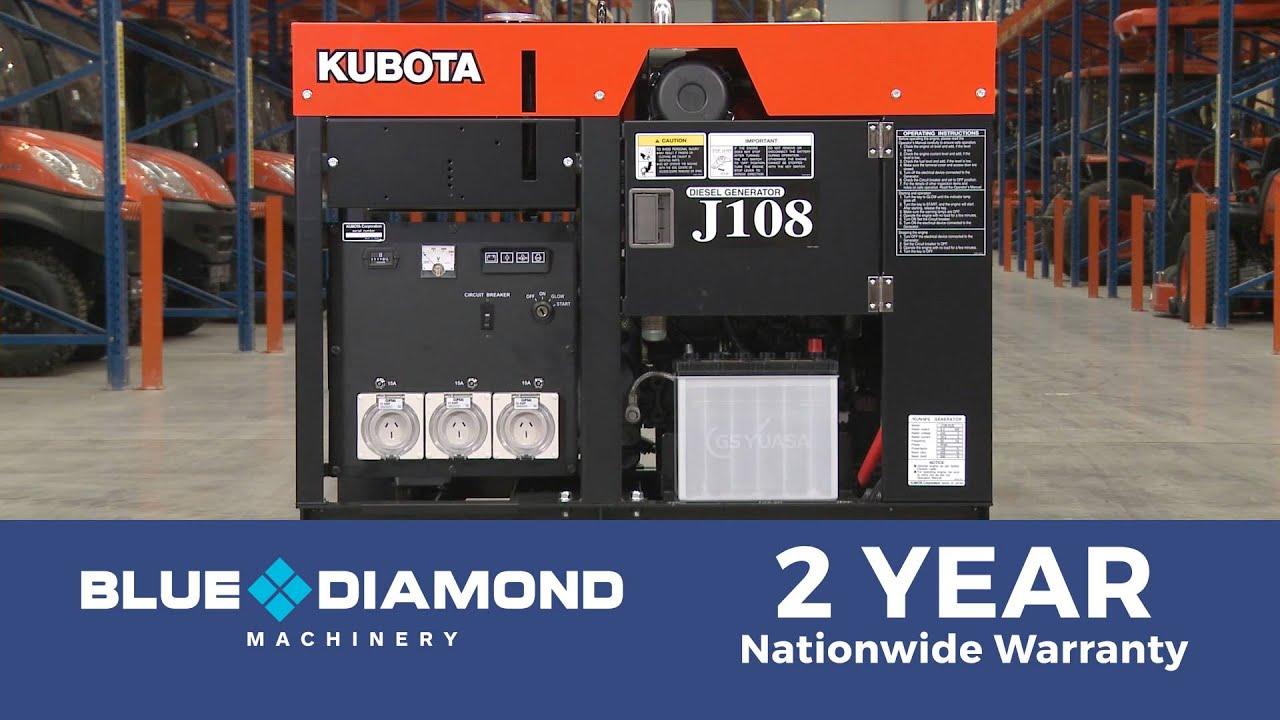 Kubota Generator - J310 10KVA