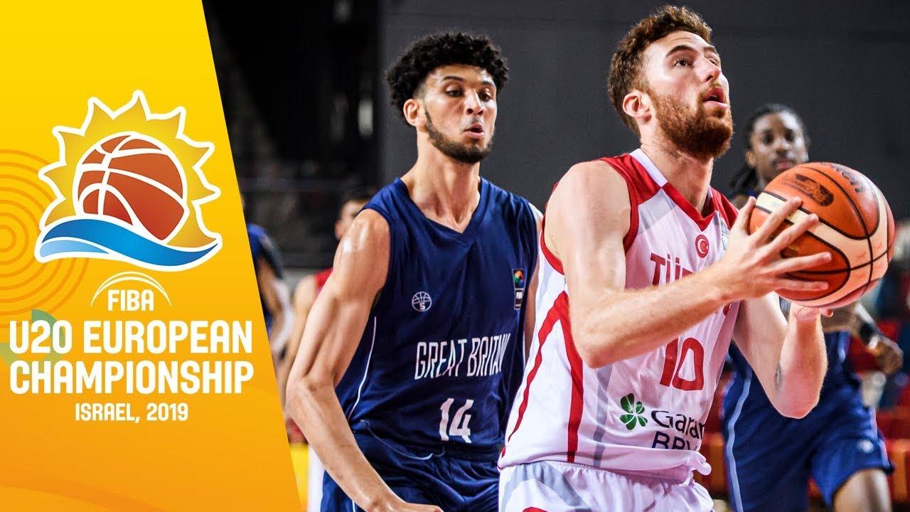 Turkey v Great Britain - Full Game - FIBA U20 European Championship 2019