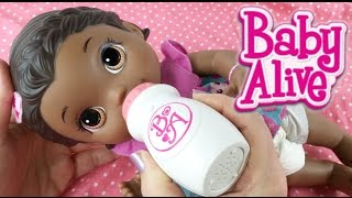 Baby Alive Super Snackin' Lily Doll Nap Routine with Interactive Bottle