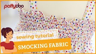 How to smock/shirr fabric easily with your sewing machine