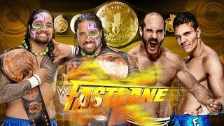WWE Fastlane 2015 - The Usos vs Cesaro & Tyson Kidd (Tag Team Titles) - WWE 2K15