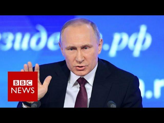 Russia Stronger Than Any Aggressor Vladimir Putin Bbc News