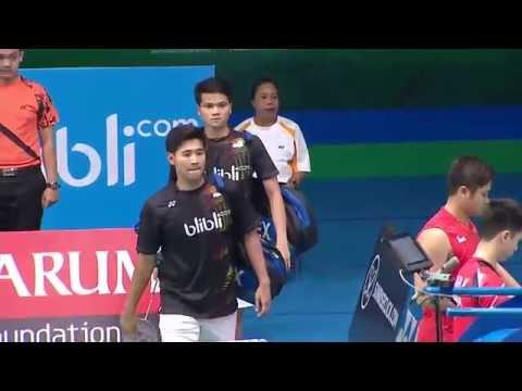 Yonex Sunrise Indonesian Masters 2016 | Badminton SF M5-MD | Pan/Suk vs Pra/Suw