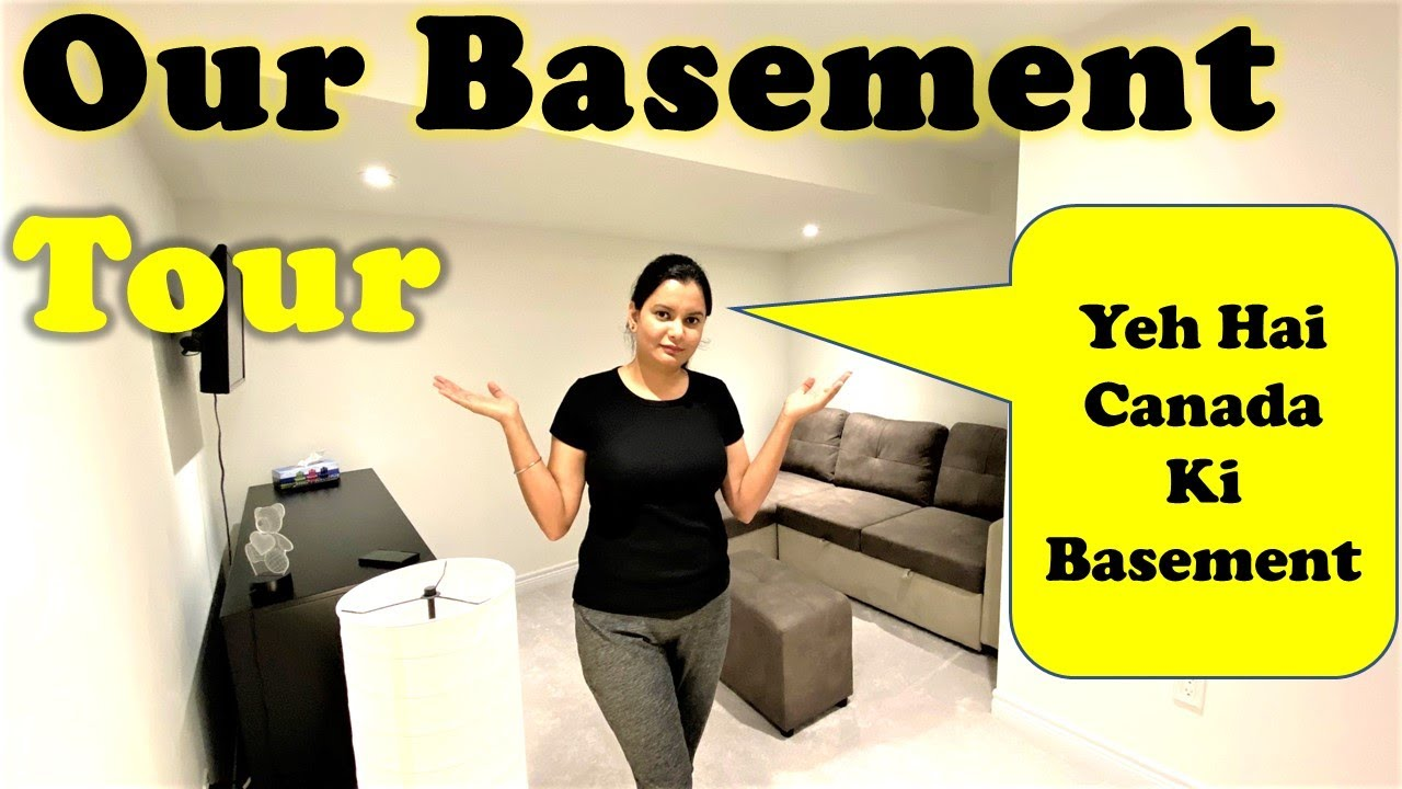Life In A Basement | Basement Apartment Tour | Life In Canada | Canada Couple Vlogs