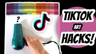 Testing Viral TIKTOK AŔT HACKS