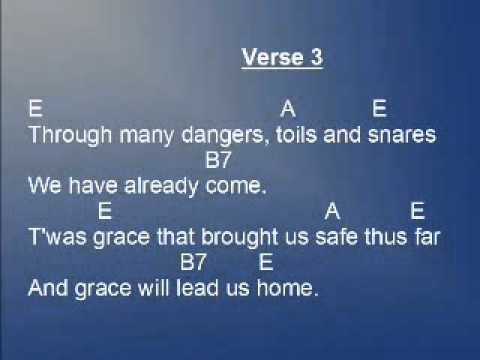 Amazing Grace Lyrics and Chords