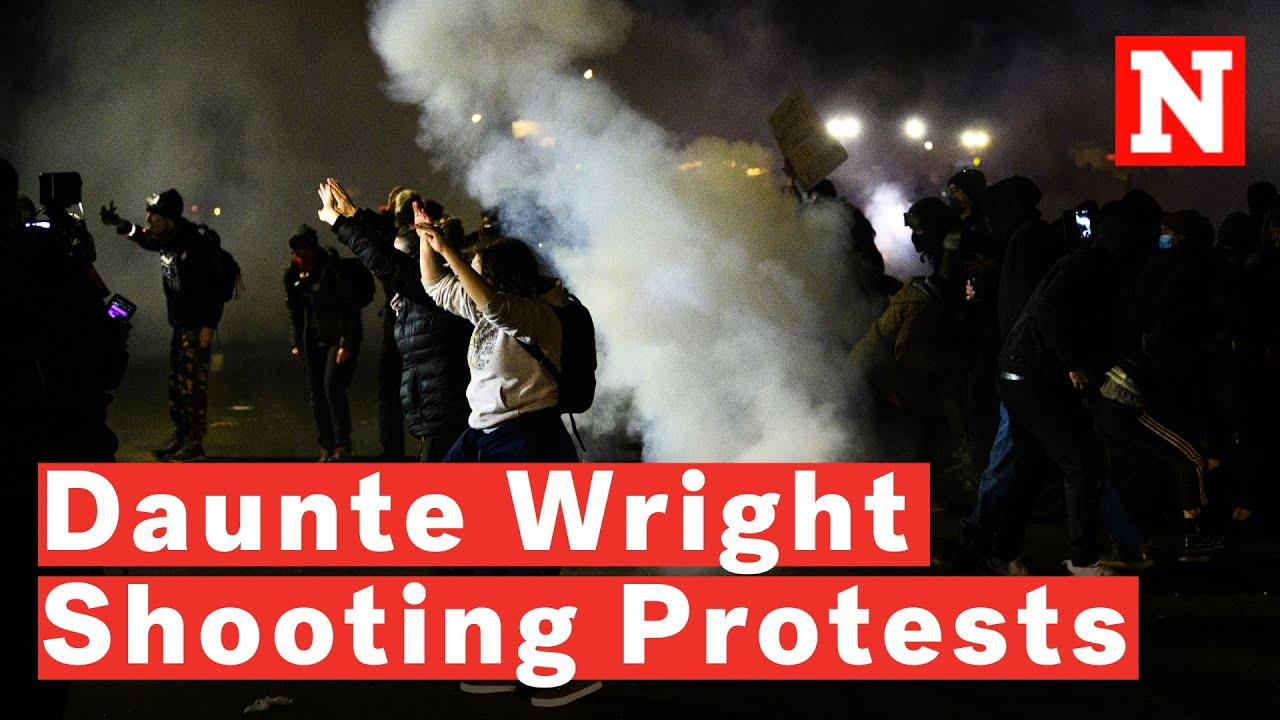 Video: Brooklyn Center Police Fire Tear Gas On People Protesting Daunte Wright's Death