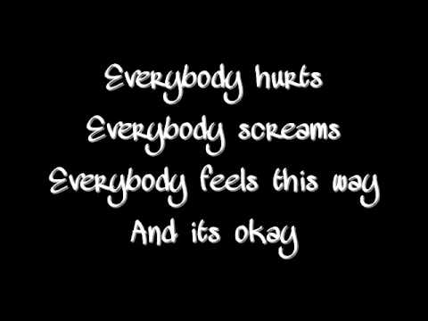 Avril Lavigne - Everybody Hurts (Official Music/Full Song) with Lyrics on screen and Description.