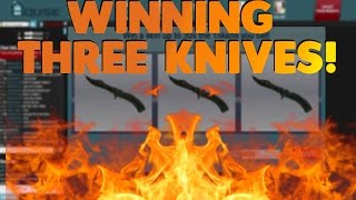 Winning Three Knives! | CSGOHouse Slots!(Thanks So Much For Watching! Want Free Skins? Click Here: http://gitcoin.gg/#/?ref=105777056604416140189., 2016-06-18T19:00:02.000Z)