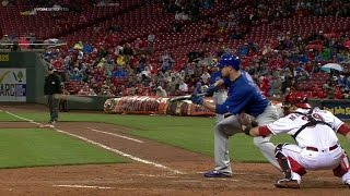 CHC@CIN: Lester drops down a perfect suicide squeeze
