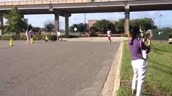 Crossing the 5k finish line - Jacksonville, FL