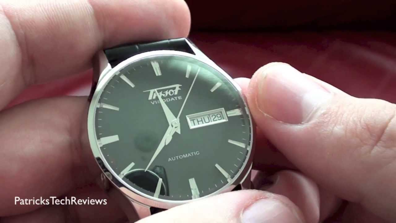 a7552cbe7 Tissot Heritage Visodate Automatic T019.430.16.051.01 - watch review -  YouTube