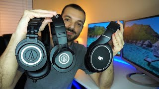 audio technica ath m50x vs m40x vs sennheiser hd 558   best of the best