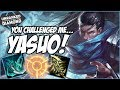 YOU CHALLENGED ME TO PLAY YASUO - Unranked to Diamond - Ep. 54 | League of Legends