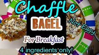chaffle #ketodiet #ketorecipes So easy! So delicious. The Breakfast Bagel Chaffle! Miss bagels NO MORE! Yum yum... Approx 1.72 carbs for both chaffles, ...