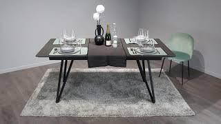 Table 180/230 cm extensible gris anthracite en céramique - ONYX