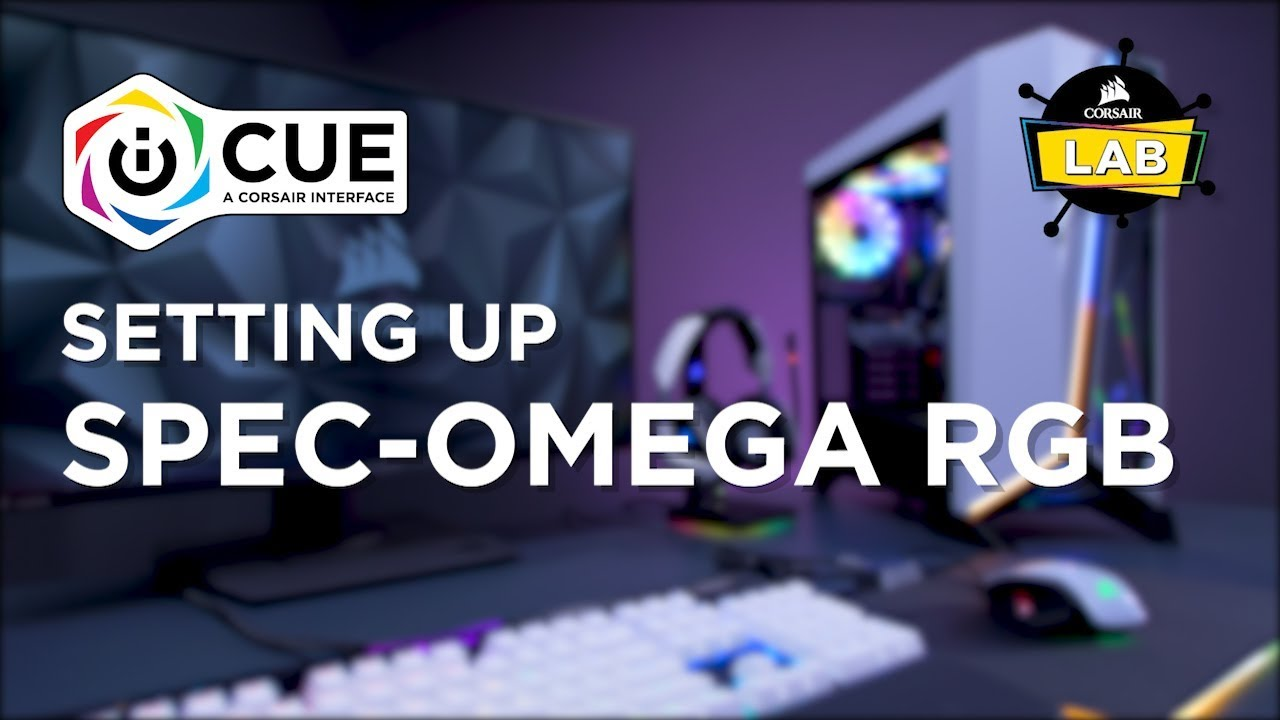 How To Set Up Spec-Omega RGB in CORSAIR iCUE