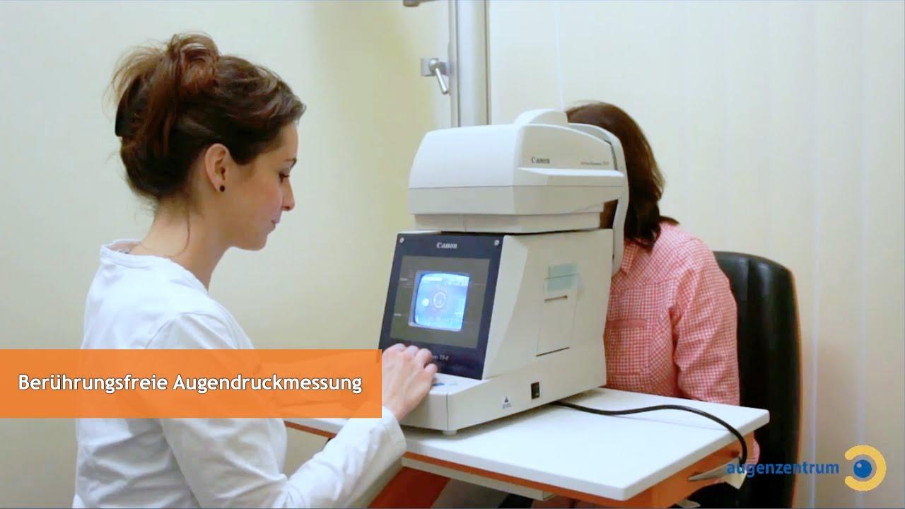Berührungsfreie Augendruckmessung mit Non-Contact-Tonometer - Augenzentrum in München
