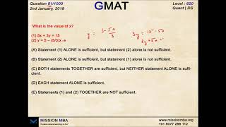 DAILY DOSE 81  | GMAT FREE QUESTIONS | MISSION MBA
