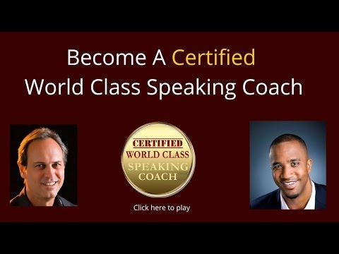 World Class Speaking Coach Certification Program
