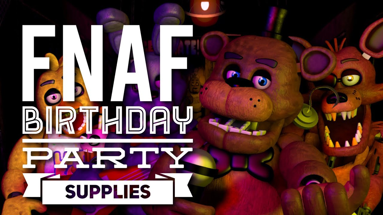 Five Nights At Freddys Happy Birthday Party Supplies Fnaf Youtube